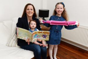 23/02/2017 HEALTH Nicola Mc Donnell founder of Itchy Little Monkeys with her children Sienna (7) and baby Sophia. . Photograph: Cyril Byrne / THE IRISH TIMES